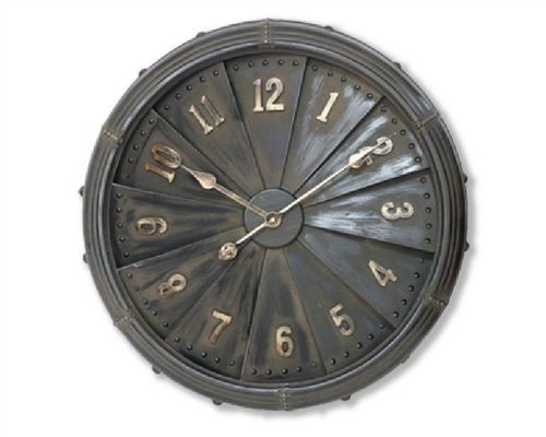 63cm Iron Industrial Wall Clock